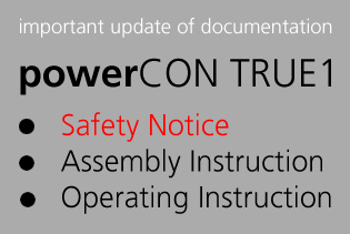 powerCON TRUE1 safety notice
